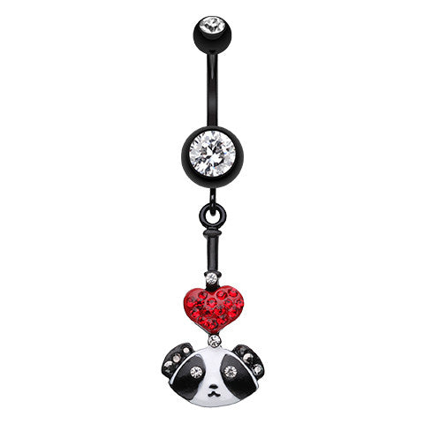 Dangling Belly Ring. Quality Belly Bars. Furrever Puppy Love Belly Piercing Ring