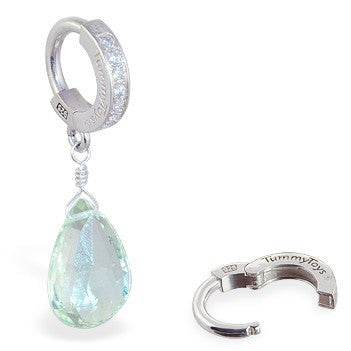 TummyToys® Green Amethyst Navel Jewellery - TummyToys® Patented Clasp. Navel Rings Australia.