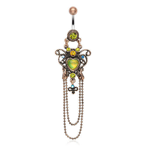 Indie Boheme Chandelier Belly Dangle - Dangling Belly Ring. Navel Rings Australia.