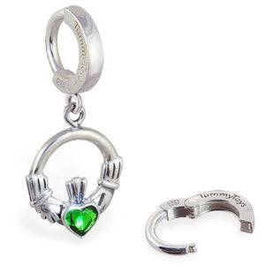 TummyToys® Irish Claddagh Belly Huggy - TummyToys® Patented Clasp. Navel Rings Australia.