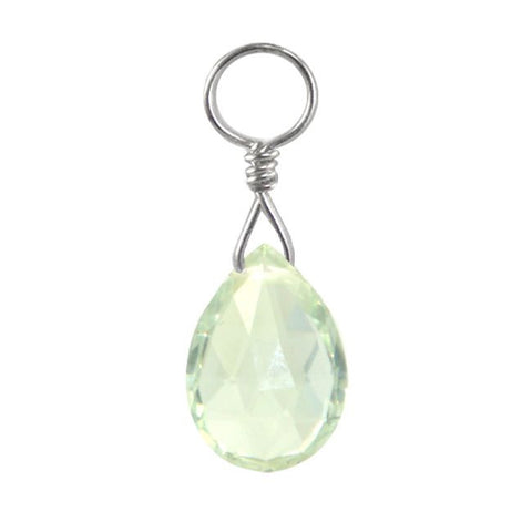TummyToys® Swinger Charm. Buy Belly Rings. TummyToys® Ocean Green Quartz Swinger Charm