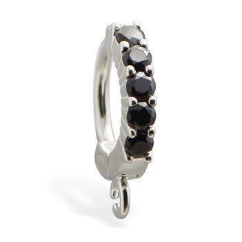 TummyToys® Black Claw Charm Slave - TummyToys® Patented Clasp. Navel Rings Australia.