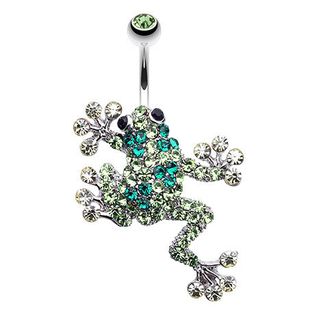 Leap Froggy Belly Piercing - Fixed (non-dangle) Belly Bar. Navel Rings Australia.