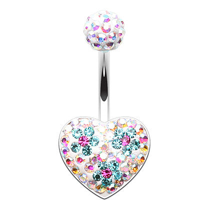 Fixed (non-dangle) Belly Bar. Cute Belly Rings. Motleys™ Love Parade Belly Ring
