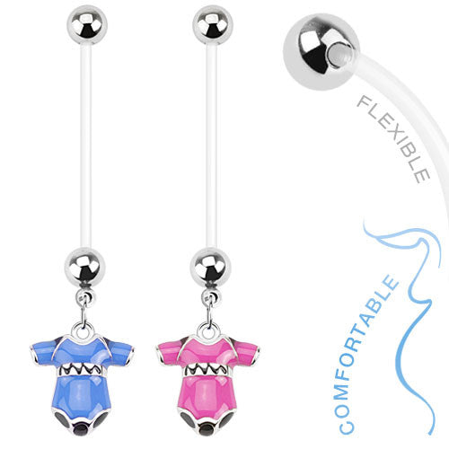 Baby Onesie Suit Pregnancy Belly Piercing Ring - Maternity Belly Ring. Navel Rings Australia.