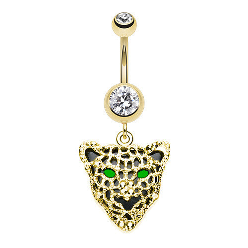 MEOW Cat Panther Navel Rings - Dangling Belly Ring. Navel Rings Australia.
