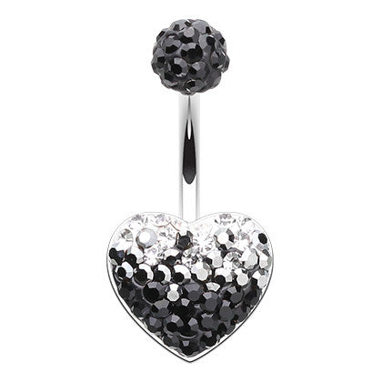 Fixed (non-dangle) Belly Bar. Buy Belly Rings. Black and White Affair Navel Ring