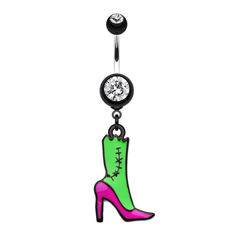 Dangling Belly Ring. Navel Rings Australia. Walking Zombie Stilletto Belly Button Ring