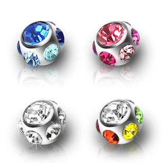 14g Royale 7 CZ Replacement Ball for Belly Rings - Replacement Ball. Navel Rings Australia.