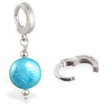 TummyToys® Marine Freshwater Coin Pearl - TummyToys® Patented Clasp. Navel Rings Australia.
