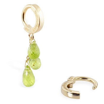 TummyToys® Patented Clasp. Quality Belly Rings. TummyToys® 14K Yellow Gold Peridot Belly Button Bar