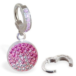 TummyToys® Dusk Swarovski Belly Piercing Ring - TummyToys® Patented Clasp. Navel Rings Australia.