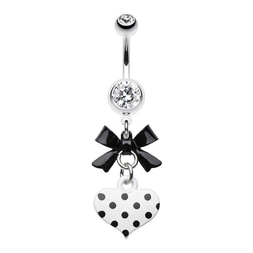 Polka Dot Love Navel Ring - Dangling Belly Ring. Navel Rings Australia.