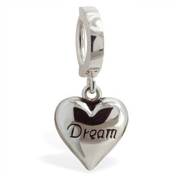 TummyToys® Patented Clasp. Shop Belly Rings. TummyToys® Dream Heart Belly Huggy