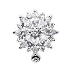 Reverse Flower Burst Belly Ring