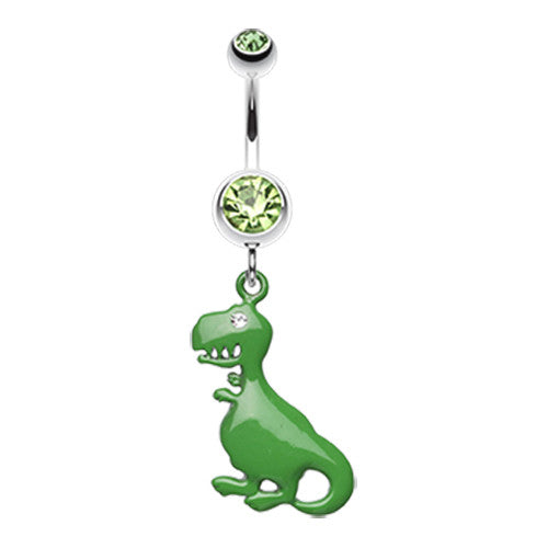 The Tyrannosaurus Belly Ring - Dangling Belly Ring. Navel Rings Australia.