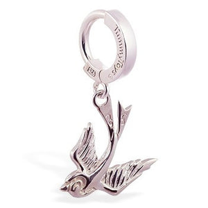 TummyToys® Silver Femme Metale Sparrow - TummyToys® Patented Clasp. Navel Rings Australia.