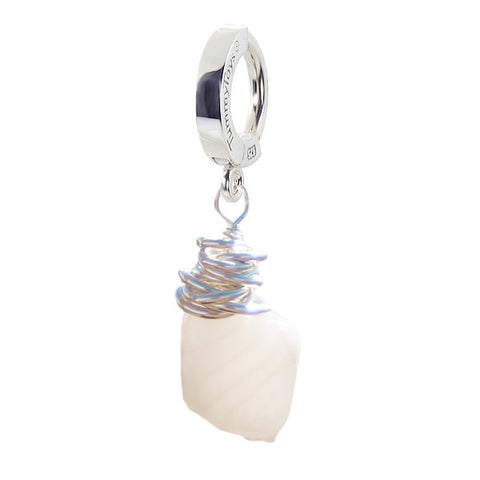 TummyToys® Patented Clasp. Quality Belly Rings. Saltwater Silver Moonstone Clasp