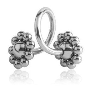 Flower Ball Twisted Belly Bars - Spiral Twister Twistie. Navel Rings Australia.
