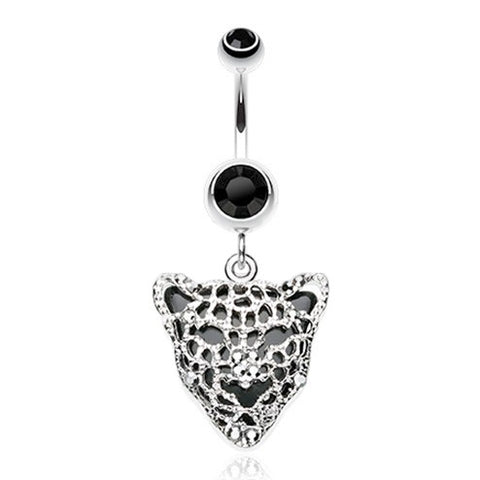 Dangling Belly Ring. Belly Rings Australia. Black Onyx Panther Belly Piercing