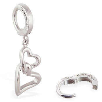 TummyToys® Interlocking Double Heart Surgical Steel Clasp - TummyToys® Patented Clasp. Navel Rings Australia.