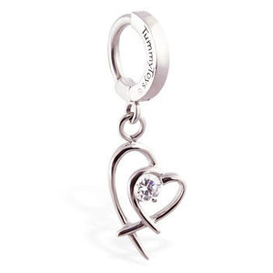 TummyToys® Double Heart Surgical Steel Clasp - TummyToys® Patented Clasp. Navel Rings Australia.