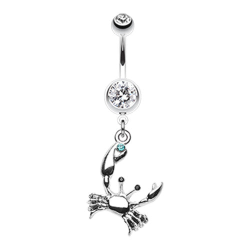 The Fiddler Crab Navel Piercing Bar - Dangling Belly Ring. Navel Rings Australia.