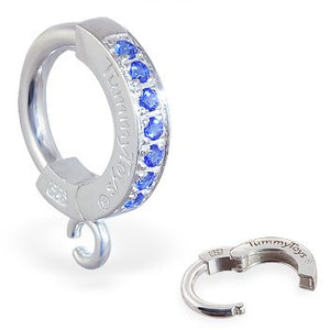 TummyToys® Blue Paved Charm Slave - TummyToys® Patented Clasp. Navel Rings Australia.
