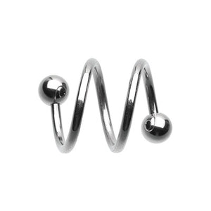 Twice Twisted Spiral Navel Rings - Spiral Twister Twistie. Navel Rings Australia.