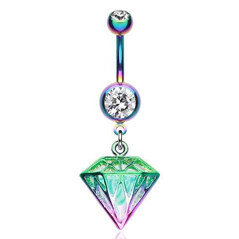 Rainbow Prism Belly Ring