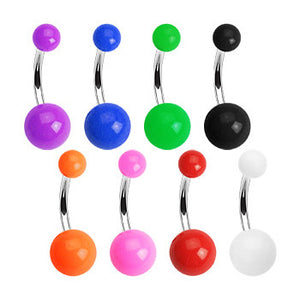 Colour Me UV Acrylic Belly Bars - Basic Curved Barbell. Navel Rings Australia.