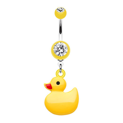 Dangling Belly Ring. Shop Belly Rings. My Rub a Dub Ducky Navel Ring