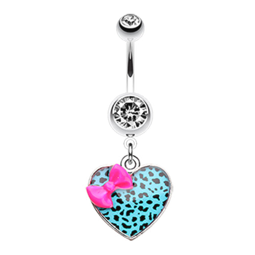 Dangling Belly Ring. Belly Bars Australia. Wild Leopard Lovin' Belly Ring