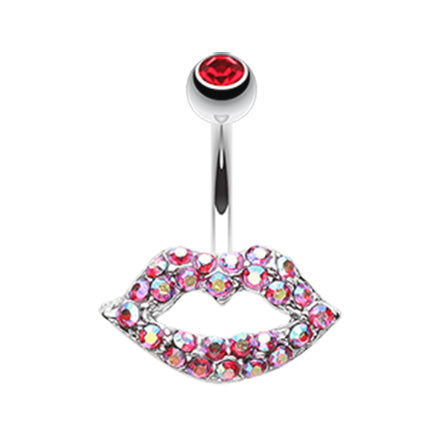 Fixed (non-dangle) Belly Bar. Navel Rings Australia. Lippy Lips Belly Button Ring