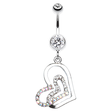 Dangling Belly Ring. Navel Rings Australia. Lovers Melting Moments Belly Dangle