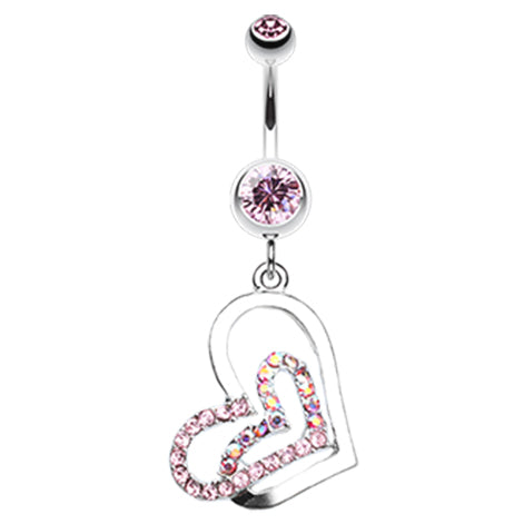 Lovers Melting Moments Belly Dangle - Dangling Belly Ring. Navel Rings Australia.