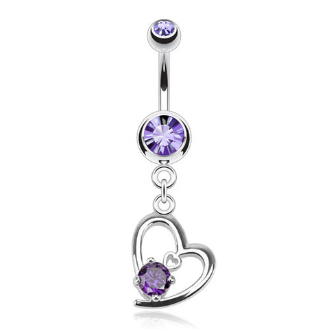 Tanzanite Lovers Tier Belly Dangle
