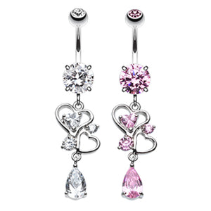 Le Love Lure Belly Piercing - Dangling Belly Ring. Navel Rings Australia.