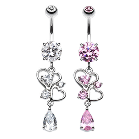 Dangling Belly Ring. Belly Bars Australia. Le Love Lure Belly Piercing