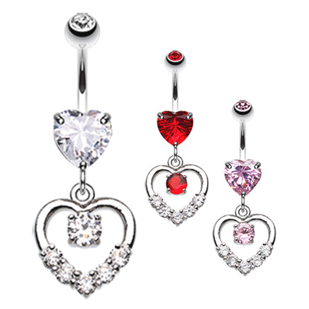 Lovers Agenda Belly Dangle - Dangling Belly Ring. Navel Rings Australia.