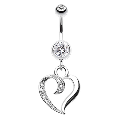 Crystal Love Tango Belly Dangle