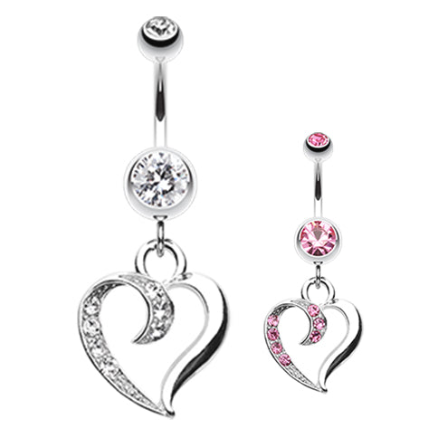 Love Tango Belly Dangle - Dangling Belly Ring. Navel Rings Australia.