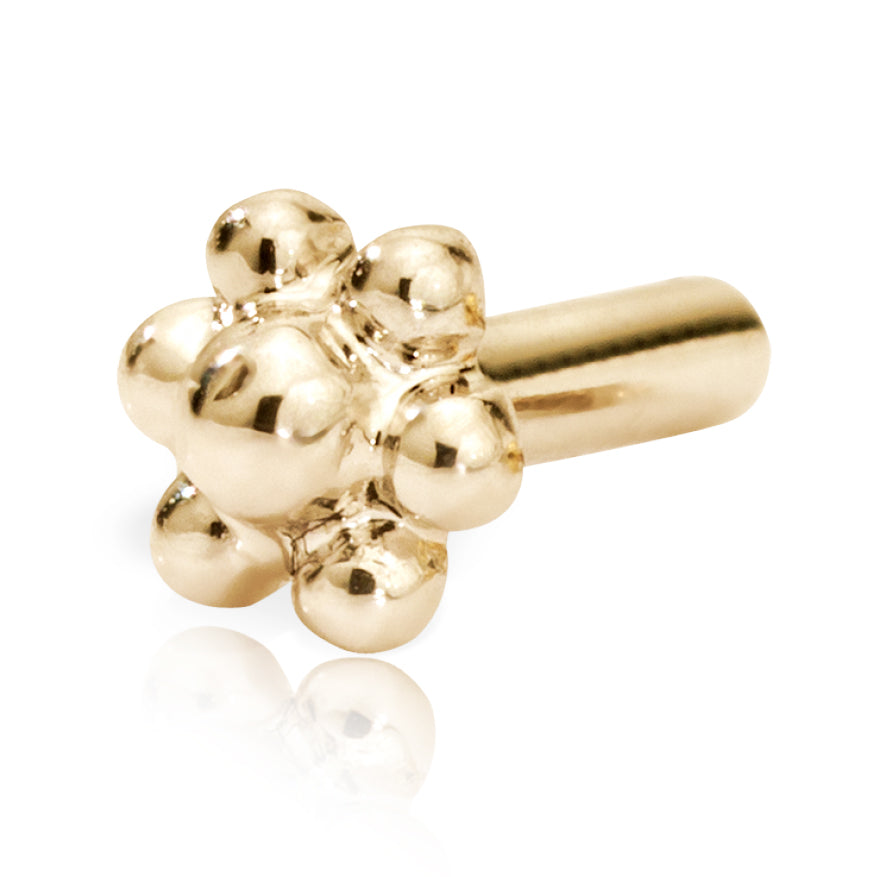Threaded Flower Stud Backing by Maria Tash in 14K Yellow Gold. - Earring. Navel Rings Australia.