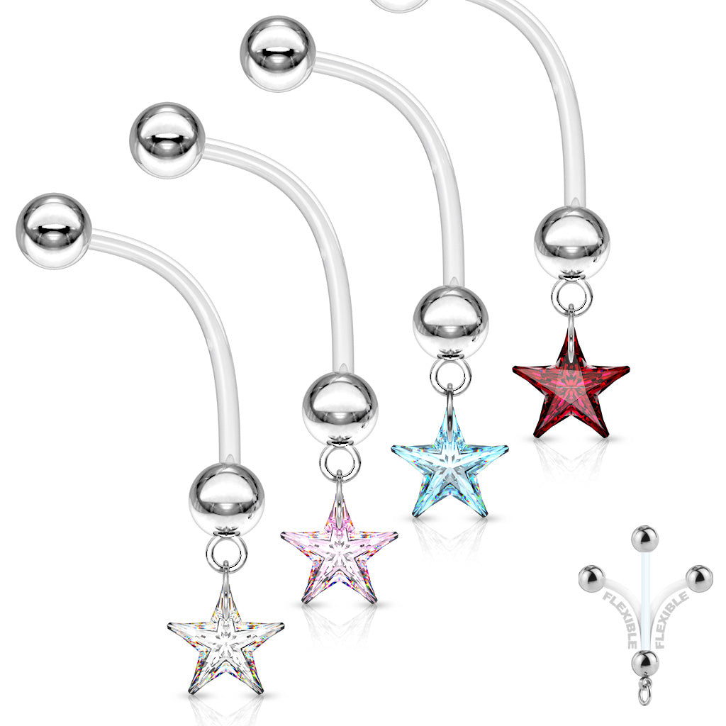 A Star is Born Maternity Belly Bar - Maternity Belly Ring. Navel Rings Australia.