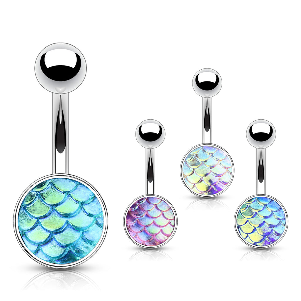Mermaid Sisters Belly Bar - Basic Curved Barbell. Navel Rings Australia.