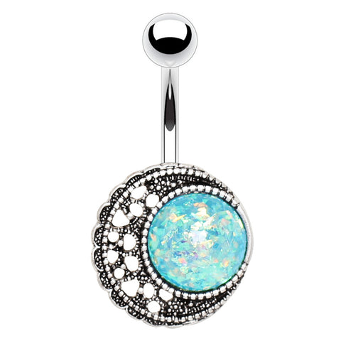 Bella Turquoise Flutter Belly Bar