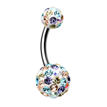 Motley™ Cream Cookie Belly Bar - Basic Curved Barbell. Navel Rings Australia.