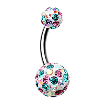 Basic Curved Barbell. High End Belly Rings. Motley™ Candy Cone Belly Bar