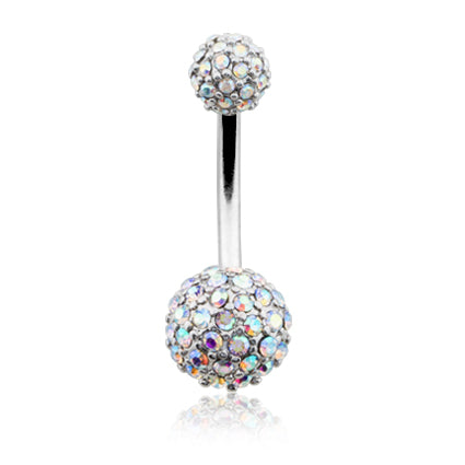 Aurora Borealis Motley™ Half Dome Belly Ring