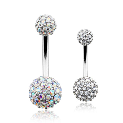 Basic Curved Barbell. Belly Bars Australia. Motley™ Half Dome Belly Ring